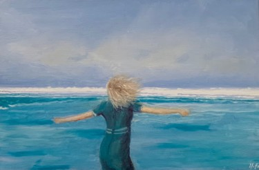 Painting, oil, figurative, artwork by Marie France Garrigues