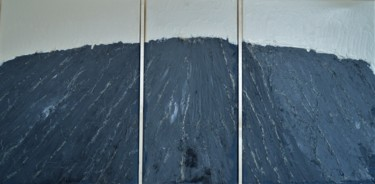 """Painting titled """"New field Triptych"""" by Mihaela Constantin, Original Art, Oil"""