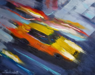 Painting, oil, expressionism, artwork by Olga Mihailicenko