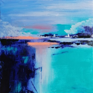 """Painting titled """"abstract landscape…"""" by Milena Panayotova, Original Art, Acrylic Mounted on Stretcher frame"""