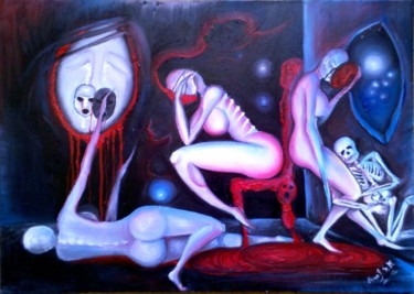 """Painting titled """"A touch of sadness"""" by Milica Jovanović Syed Mahmud, Original Art, Oil"""