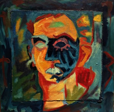 """Painting titled """"rage"""" by Mireille Potvin, Original Art, Oil"""