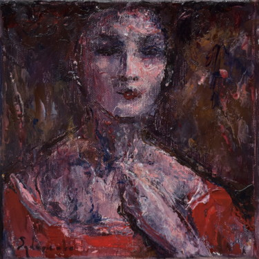 """Painting titled """"Dame"""" by Misha Sydorenko, Original Art, Oil Mounted on Stretcher frame"""