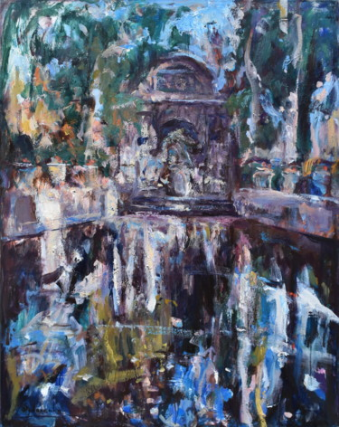 """Painting titled """"Fontaine Medicis III"""" by Misha Sydorenko, Original Art, Oil Mounted on Stretcher frame"""