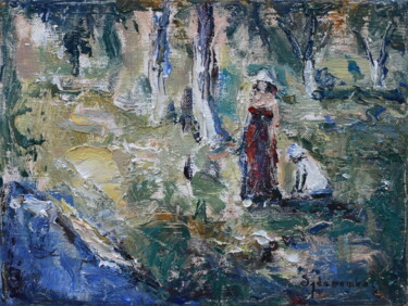 """Painting titled """"In the garden"""" by Misha Sydorenko, Original Art, Oil"""