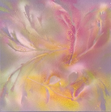 """Painting titled """"THE FIELD OF FLOwER…"""" by Missie'S Purple, Original Art, Spray paint"""