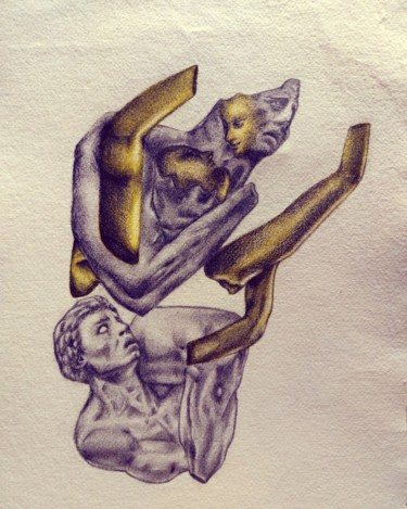 """Drawing titled """"Pray for good, Look…"""" by Mjyf, Original Art, Pencil"""