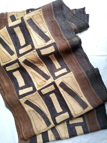 """Textile Art titled """"African kuba cloth,…"""" by Jafeth Moiane, Original Art, Tapestry"""