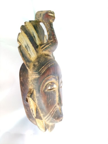 """Sculpture titled """"African mask,Africa…"""" by Jafeth Moiane, Original Art, Wood"""