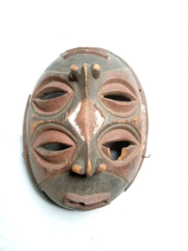 """Sculpture titled """"African mask,Congo…"""" by Jafeth Moiane, Original Art, Wood"""