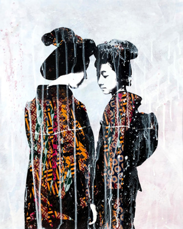 """Painting titled """"Two Sisters"""" by Modesty L'Artist, Original Art, Acrylic"""