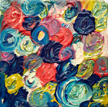 Color Painting, acrylic, abstract, artwork by M Mystery Artist