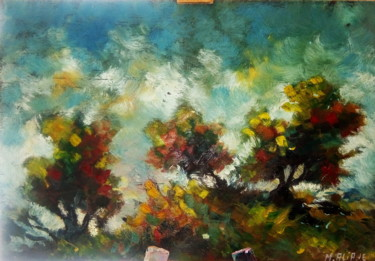 Painting, oil, impressionism, artwork by Mohand Aliane
