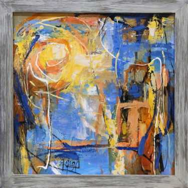"""Painting titled """"Côte d'Azur Ensolei…"""" by Berga, Original Art, Oil Mounted on Stretcher frame"""