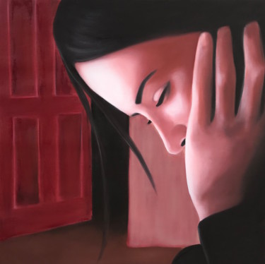 Painting, oil, figurative, artwork by Mónica Silva