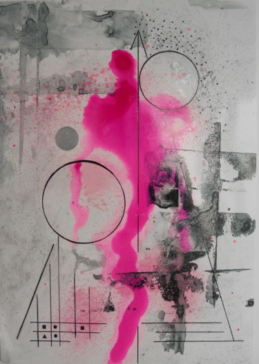 Painting, ink, abstract, artwork by Montse Humanes