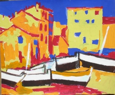 """Drawing titled """"SAINT TROPEZ"""" by Michel Moskovtchenko, Original Art, Other"""