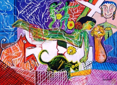 28.7x39.4x0.8 in ©1998 by Mariam Mouliets