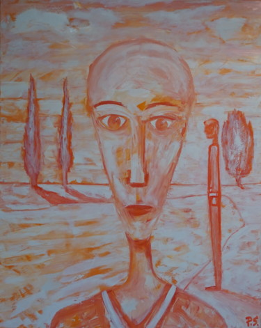 """Painting titled """"Isolation"""" by Peter Stutz, Original Art, Oil Mounted on Stretcher frame"""