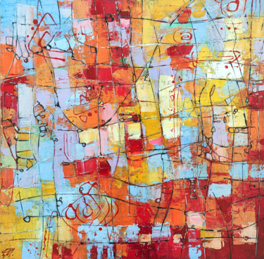 """Painting titled """"Abstract Painting #5"""" by Movses Petrosyan, Original Art, Acrylic"""