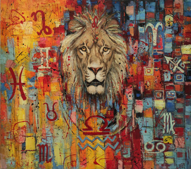 """Painting titled """"Zodiac Signs"""" by Movses Petrosyan, Original Art, Acrylic"""