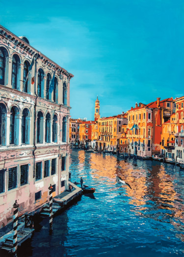 """Painting titled """"Venezia"""" by Marco Barberio, Original Art, Acrylic Mounted on Stretcher frame"""
