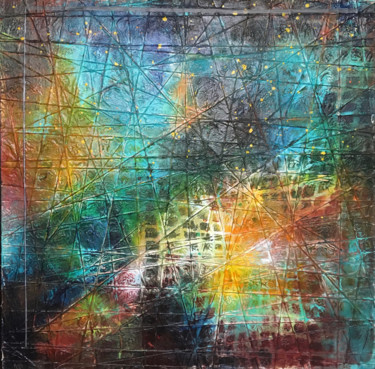 City Painting, acrylic, abstract, artwork by Mppl-Art