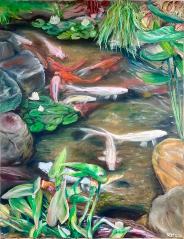 Fish Painting, oil, classicism, artwork by Mariia