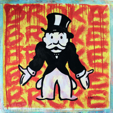 """Painting titled """"Mr. Monopoly (Broke)"""" by Mr.Babes, Original Art, Acrylic"""