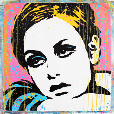 """Painting titled """"Twiggy"""" by Mr.Babes, Original Art, Acrylic"""