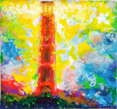 """Painting titled """"The lighthouse"""" by Mohamed Salem, Original Art, Acrylic"""