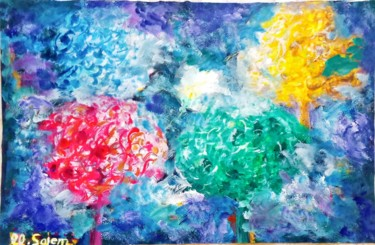"""Painting titled """"The four seasons"""" by Mohamed Salem, Original Art, Acrylic"""