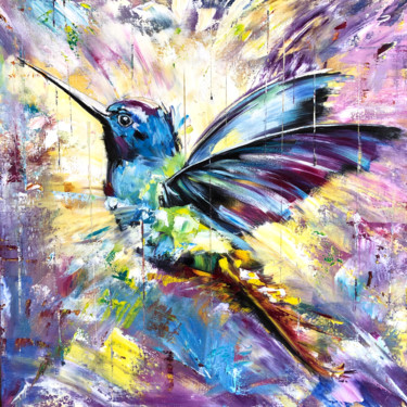 """Painting titled """"ENERGY OF LIFE - Ex…"""" by Marina Skromova, Original Art, Oil Mounted on Stretcher frame"""