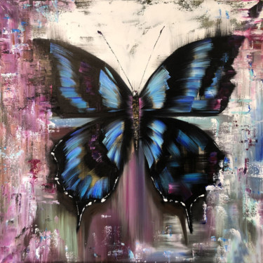 """Painting titled """"MORPHO QUEEN - Pict…"""" by Marina Skromova, Original Art, Oil Mounted on Stretcher frame"""