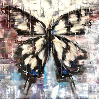 """Painting titled """"HEAVENLY LACE - Abs…"""" by Marina Skromova, Original Art, Oil Mounted on Wood Panel"""