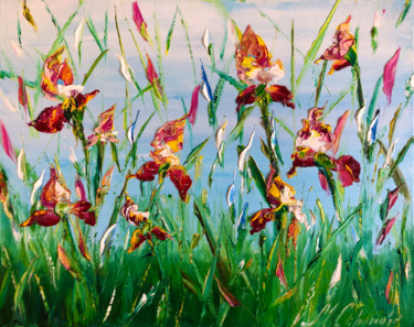 """Painting titled """"The flowering of re…"""" by Marina Skromova, Original Art, Oil Mounted on Wood Panel"""