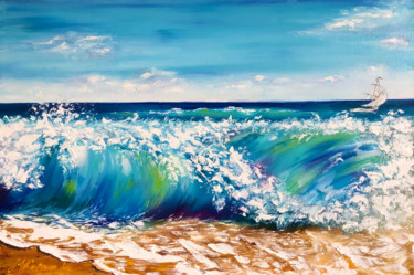 """Painting titled """"THE SOUND OF THE SU…"""" by Marina Skromova, Original Art, Oil Mounted on Wood Panel"""
