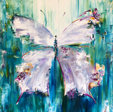 """Painting titled """"THE QUEEN OF SUMMER…"""" by Marina Skromova, Original Art, Oil Mounted on Wood Panel"""