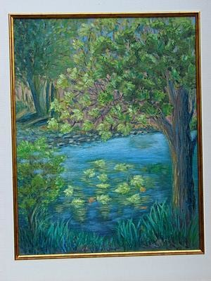 """Painting titled """"Luminous Reflections"""" by Marie-Therese Forand, Original Art, Oil"""