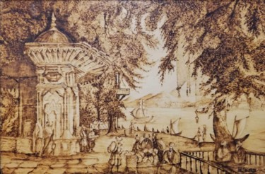 """Printmaking titled """"The Fountain of the…"""" by Murat Yilmaz, Original Art, Engraving"""