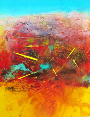 """Painting titled """"ART52"""" by Muriel Riedel, Original Art, Acrylic"""