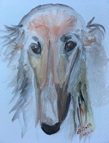 """Painting titled """"Gaby"""" by Murielle Lucie Clément, Original Art, Watercolor"""