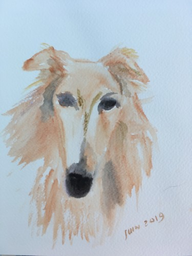 """Painting titled """"Hilda"""" by Murielle Lucie Clément, Original Art, Watercolor"""
