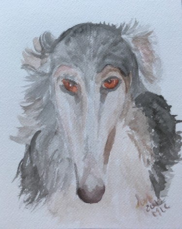 """Painting titled """"Igor"""" by Murielle Lucie Clément, Original Art, Watercolor"""