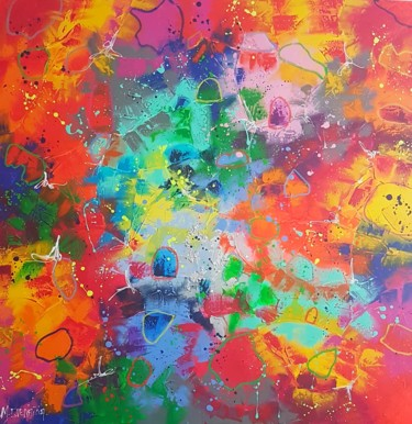 Painting, oil, abstract, artwork by Myriam Guenaizia