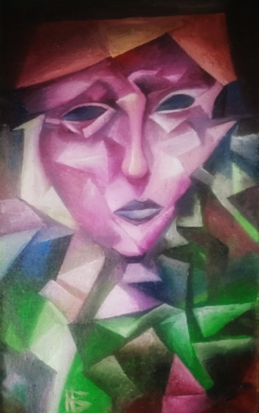 """Painting titled """"Portrait in the sty…"""" by Nadezda Baruns, Original Art, Oil"""