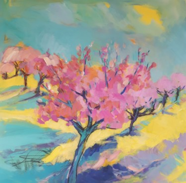 Tree Painting, acrylic, fauvism, artwork by Nadine Nacinovic