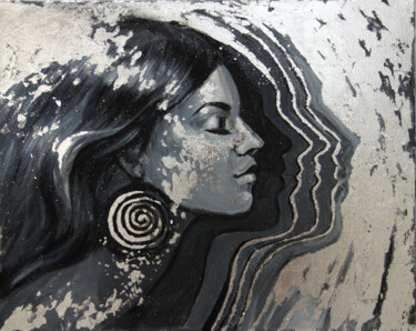 """Painting titled """"INFINITY-GIRL IN PR…"""" by Nadezhda Zueva, Original Art, Acrylic Mounted on Stretcher frame"""
