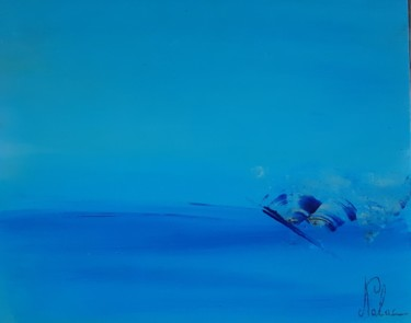 Seascape Painting, acrylic, abstract, artwork by Nalac