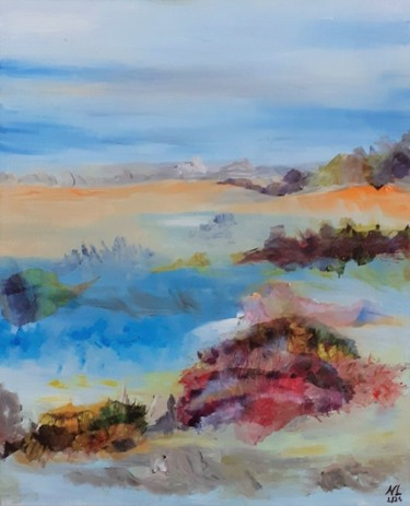 Landscape Painting, oil, abstract, artwork by Nancy Lopez